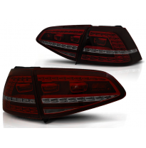 Pilotos Traseros Led Vw Golf 7 13-17 Red Smoke Led Gti Look-Intermitente Dinamico